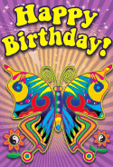 60's Butterfly Birthday Card