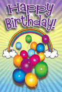 Balloons and Rainbow Birthday Card