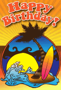 Beach Birthday Card