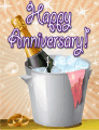 Champagne Bucket Small Anniversary Card