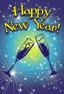 Champagne New Years Card