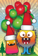 Christmas Monster Card