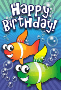 Clown Fish Birthday Card