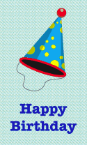 Colorful Party Hat Birthday Card