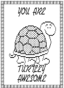 Dot Matrix Turtley Awesome