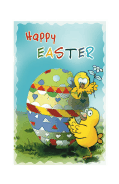 Easter Card with Chick and Egg