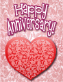 Filigree Heart Small Anniversary Card