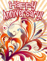 Floral Design Small Anniversary Card