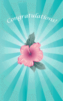 Flower Congratulations Card