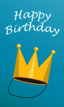 Golden Crown Birthday Card