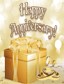 Golden Gift Small Anniversary Card