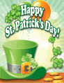 Green Hat Small St Patrick's Day Card
