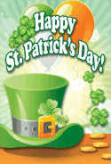Green Hat St Patrick's Day Card