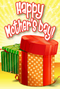 Green and Orange Boxes Mother's Day Card