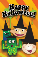 Witches and Monsters Halloween Card