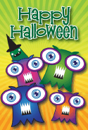 Monster Party Halloween Card