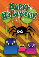 Spider and Monster Halloween Card