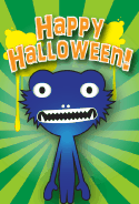 Blue Monster Halloween Monster