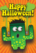 Frankenstein Monster Halloween Card