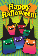 Witch Party Halloween Card
