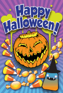 Jack O Lantern Candy Halloween Card