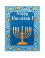 Hanukkah Card with Menorah (small)