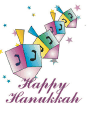 Hanukkah Card with Pastel Dreidels (small)