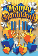 Happy Hanukkah Balloons Card