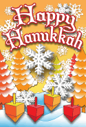 Happy Hanukkah Tree Card