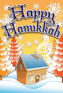 Happy Hanukkah Trees Card