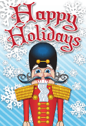 Happy Holidays Nutcracker Card