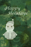 Happy Holidays Santa Card