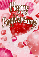 Heart-shaped Balloons Anniversary Card