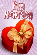 Heart-shaped Box Mother's Day Card