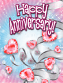 Heart-shaped Jewels Small Anniversary Card