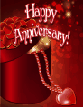 Heart and Beads Small Anniversary Card
