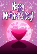 Heart in the Moonlight Mother's Day Card