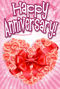 Heart of Roses Anniversary Card