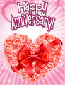 Heart of Roses Small Anniversary Card
