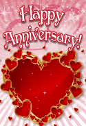 Hearts and Stars Anniversary Card