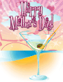 Martini on the Beach Small Mother's Day Card