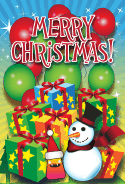 Merry Christmas Snow Man Card