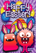Monsters Easter Card