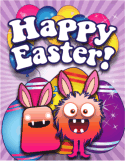 Monsters Small Easter Card