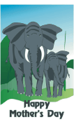 Mother's Day Card with Elephants