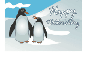 Mother's Day Card with Penguins