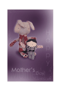 Mother's Day Card with Stuffed Bunny