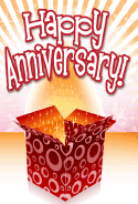 Open Box Anniversary Card