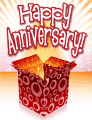 Open Box Small Anniversary Card