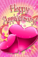 Pair of Hearts Anniversary Card